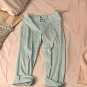 Light blue crop jeggings